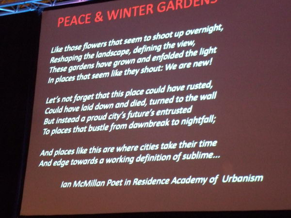 Poem 'Peace and Winter Garden' by Ian McMillan