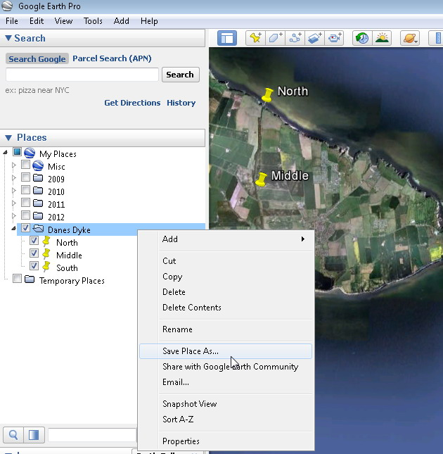 Creating, Grouping and Saving Google Earth Placemarks