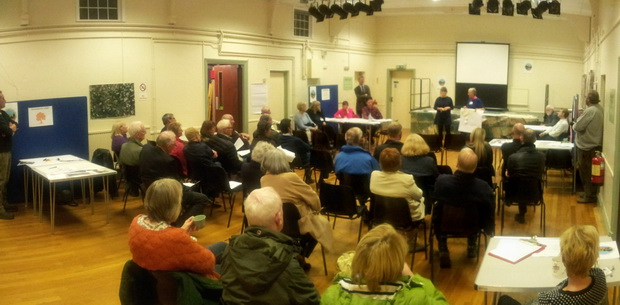 2B's Elizabeth presents to the Neighbourhood Plan Consultation Evening