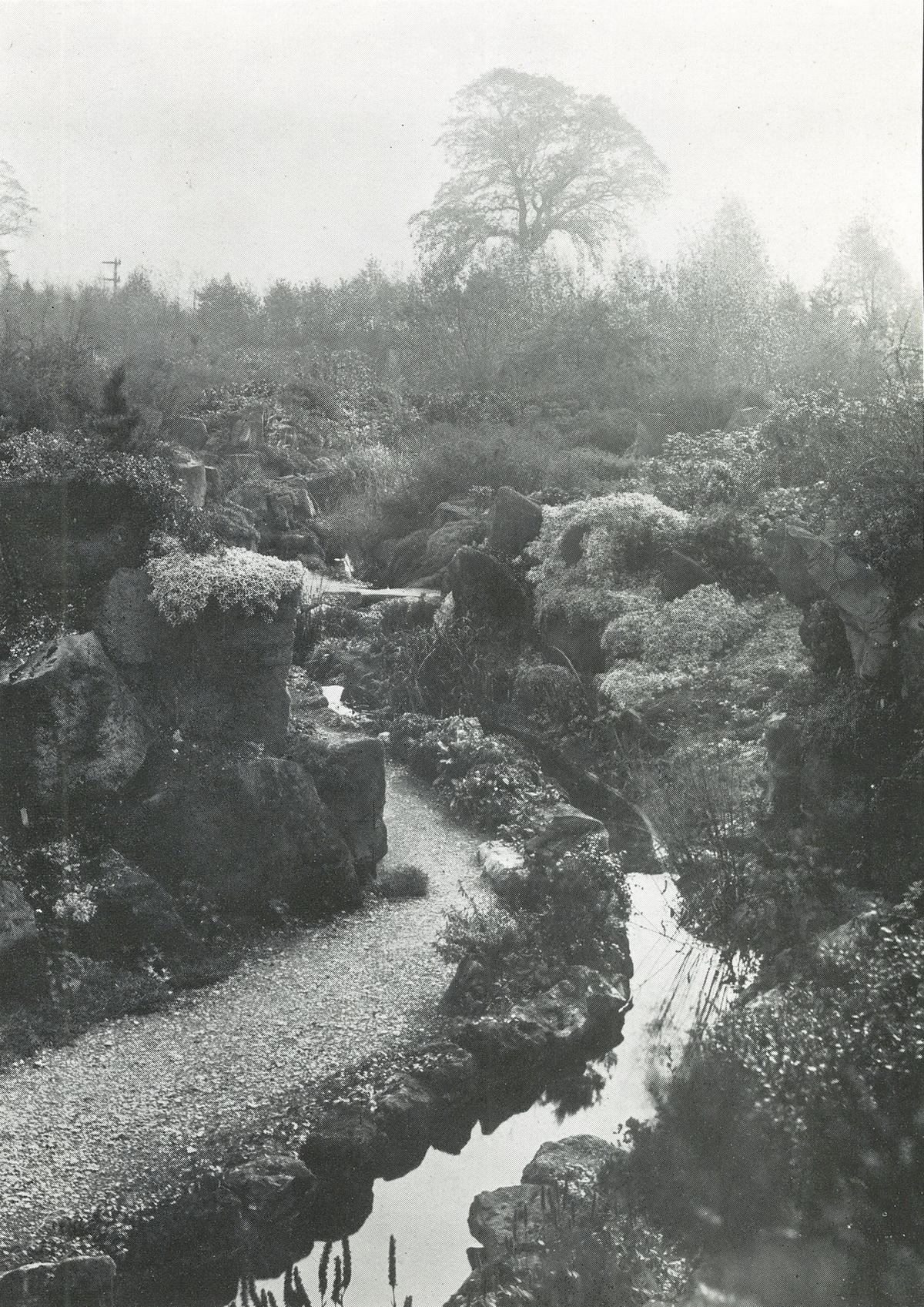 Burnby Rock Garden: somewhere between 1920 and 1920