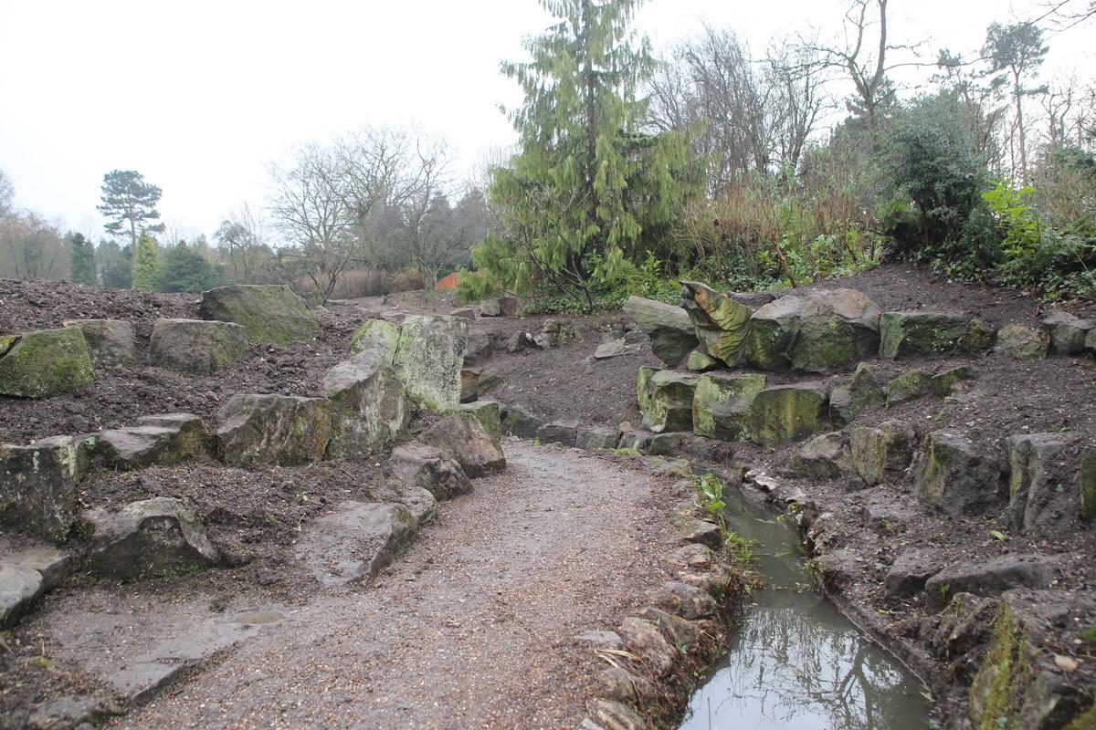 Clearance of rock garden January 2017