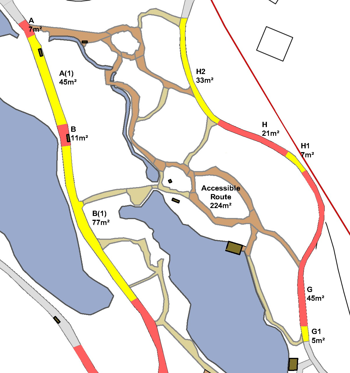 Detail of Path plan showing accessible route