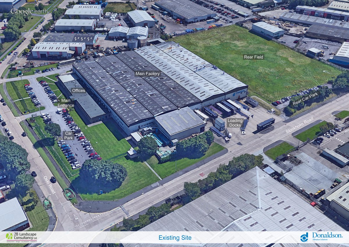 Donaldson site overview
