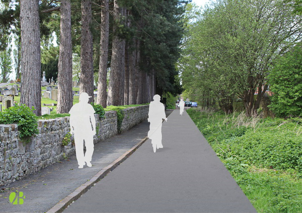 Cycleway Adjacent to cemetery