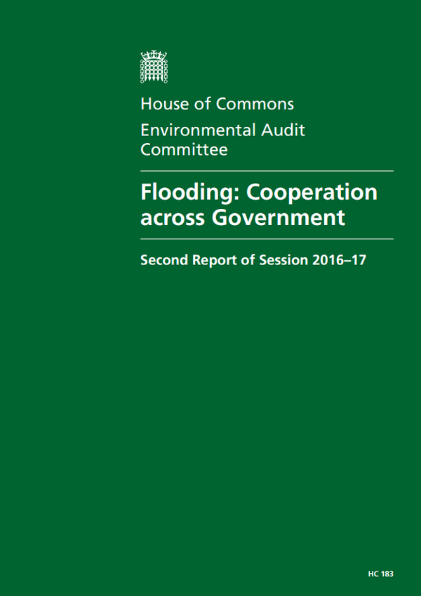 Flooding: Cooperation across Government Environmental Audit Committee