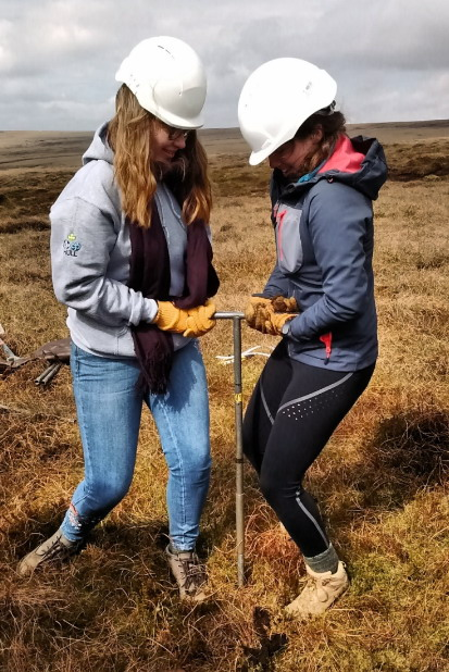 Peat coring in the Peak District
