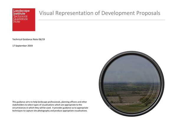 Front cover of the Visual Representation of Development Proposals Guide