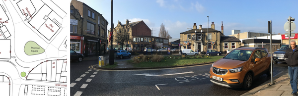 Thornton Square, Brighouse - plan and photo