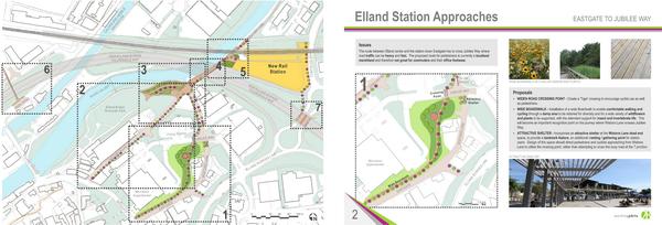 New Elland Rail Station initial ideas