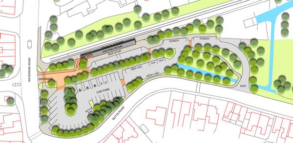 Design option 2 for Barton Interchange