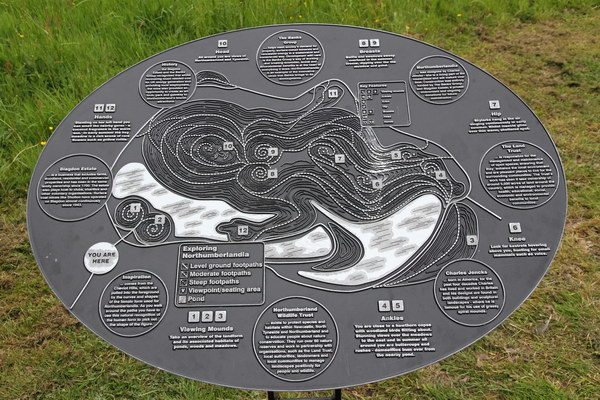 Image: Interpretation board showing plan of