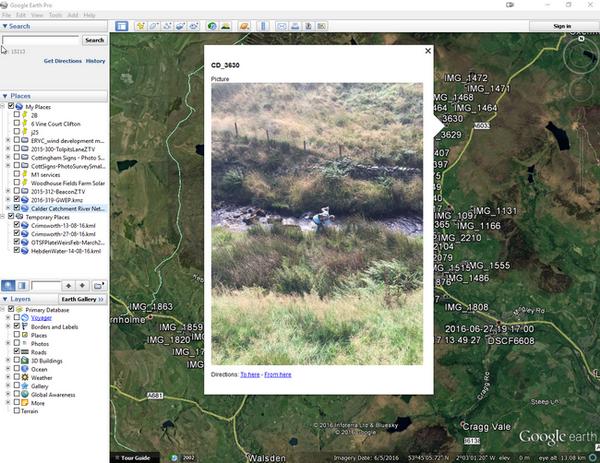 The River Surveys Google Earth map