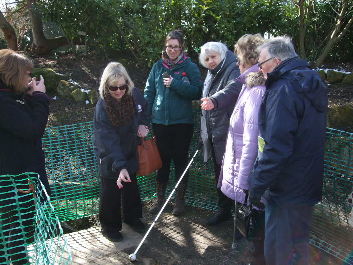 Members of Sight Support discussing access issues