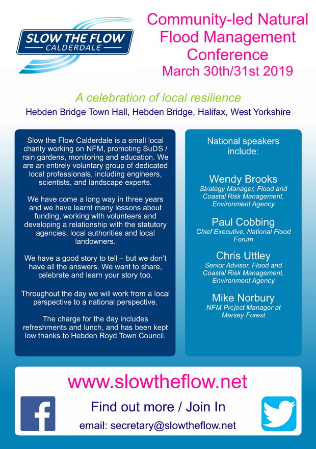 You Can Slow The Flow: Calderdale Conference Poster