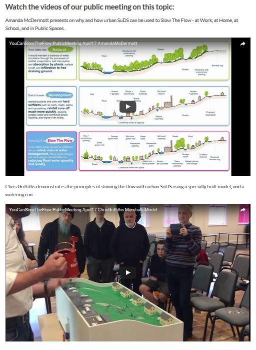 Slow The Flow urban SuDS talk videos