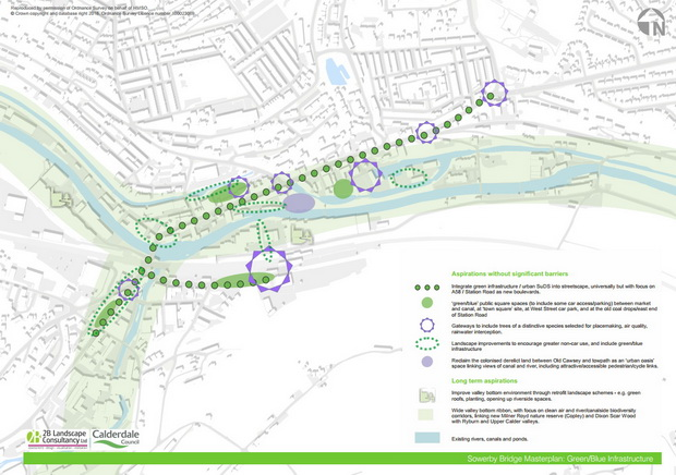 Sowerby Bridge Green Blue Masterplan
