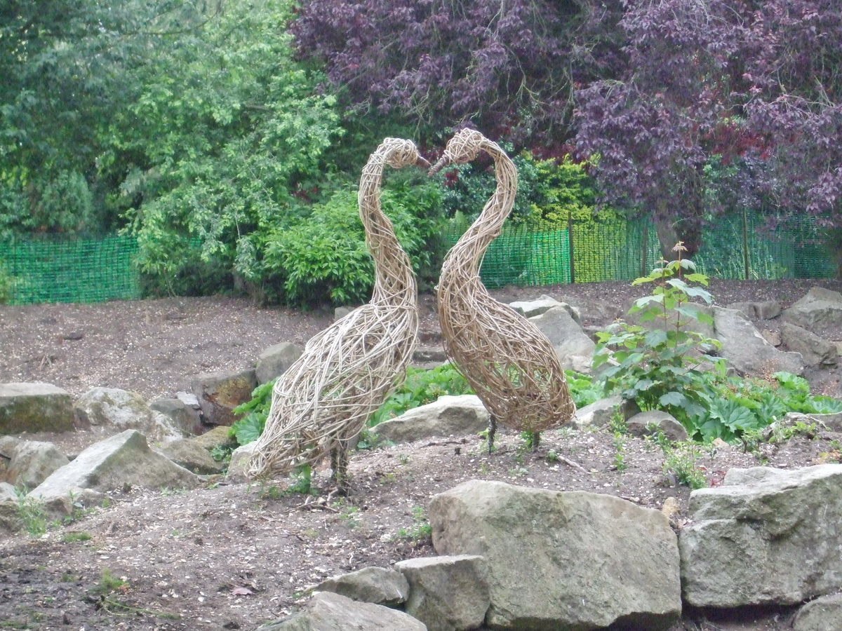 Rock Garden lying fallow – with willow sculptures - 2018