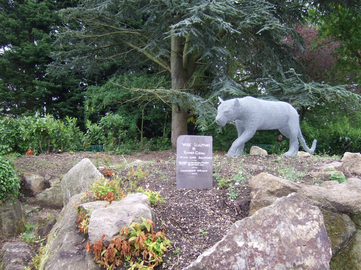 Rock Garden lying fallow – with wire sculptures - 2017